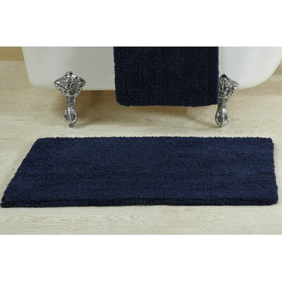 Berrywood Tufted Bath Rug Size: 21 W x 34 L, Color: Navy