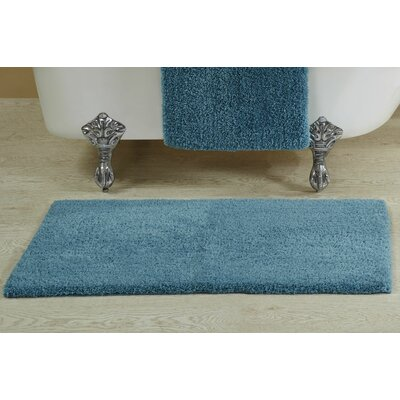 Berrywood Tufted Bath Rug Size: 21 W x 34 L, Color: Teal