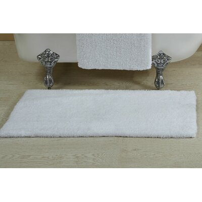 Berrywood Tufted Bath Rug Size: 17 W x 24 L, Color: White