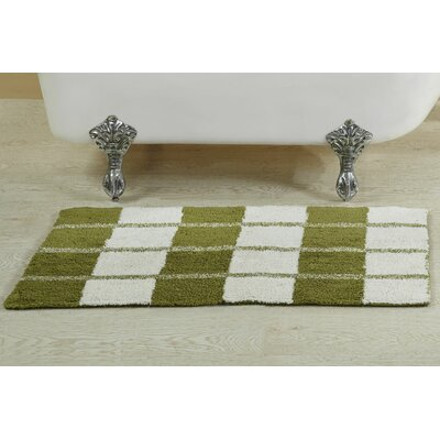 Alcera Bath Rug Size: 21 W x 34 L, Color: Green