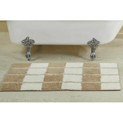 Alcera Bath Rug Size: 21 W x 34 L, Color: Linen