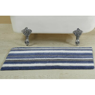Lefever Reversible Bath Rug Size: 24 W x 40 L, Color: Blue