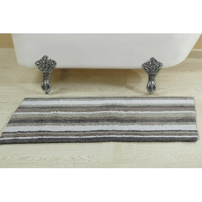 Alfson Reversible Bath Rug Size: 24 W x 40 L, Color: Gray