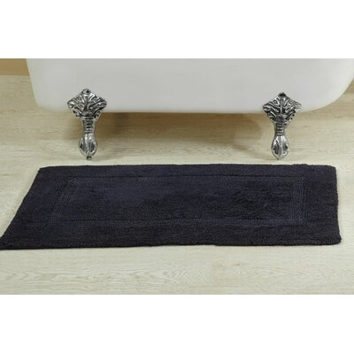 Alfredson Stone Wash Bath Rug Size: 21 W x 34 L, Color: Navy