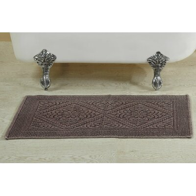 Berwick Stone Wash Bath Rug Size: 24 W x 40 L, Color: Burgundy