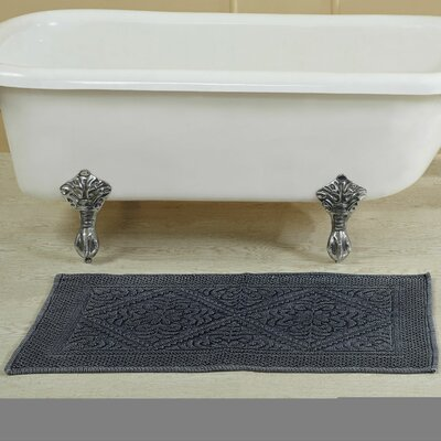 Bessler Stone Wash Bath Rug Size: 24 W x 40 L, Color: Navy