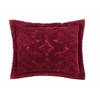 Mackenzie Standard Sham Color: Burgundy