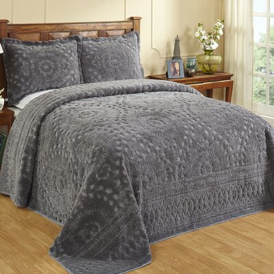 Faunia Bedspread Color: Gray, Size: Queen