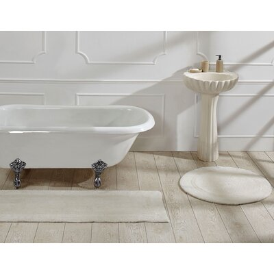 Deidre Bath Rug Color: Ivory
