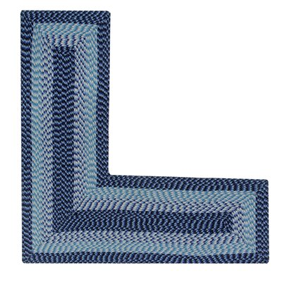 Vienne Navy Area Rug Rug Size: L-Shaped 2 x 4