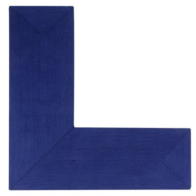 Vienne Navy Solid Area Rug Rug Size: L-Shaped 2 x 4
