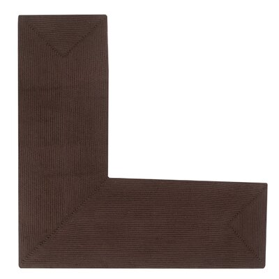 Vienne Chocolate Solid Area Rug Rug Size: L-Shaped 2 x 4