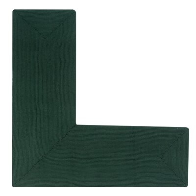 Vienne Hunter Solid Area Rug Rug Size: L-Shaped 2 x 5