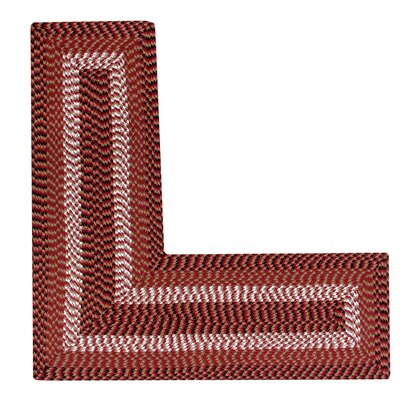 Vienne Burgundy Area Rug Rug Size: L-Shaped 2 x 5
