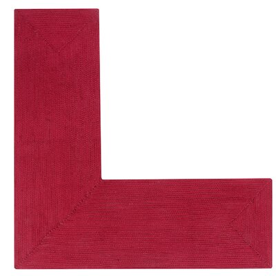 Vienne Burgundy Solid Area Rug Rug Size: L-Shaped 2 x 5