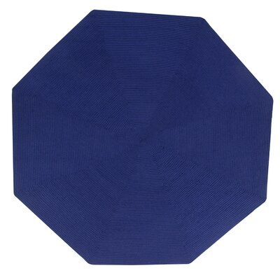 Vienne Navy Solid Area Rug Rug Size: Octagonal 4