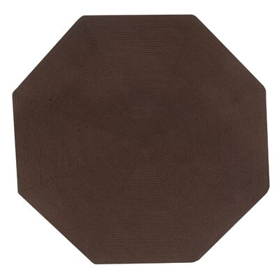 Vienne Chocolate Solid Area Rug Rug Size: Octagonal 6