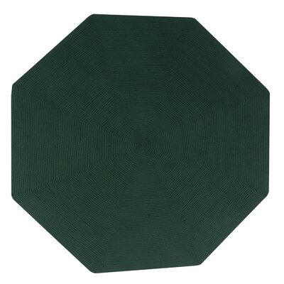 Vienne Hunter Solid Area Rug Rug Size: Octagonal 6
