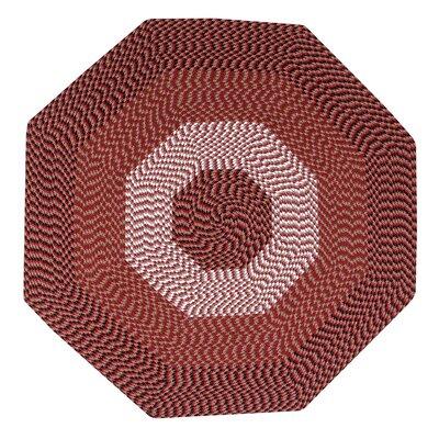 Vienne Burgundy Area Rug Rug Size: Octagonal 4