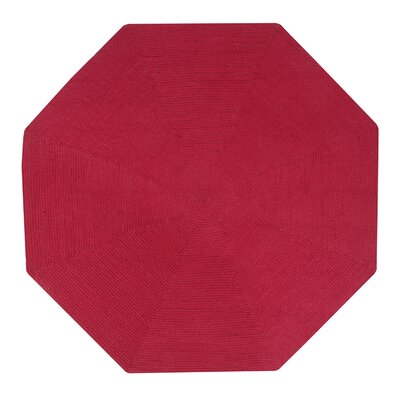Vienne Burgundy Solid Area Rug Rug Size: Octagonal 4