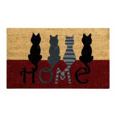 Alyda Cat Home Coir Doormat