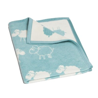 Boykins Counting Sheep Mini Reversible Cotton Throw Blanket