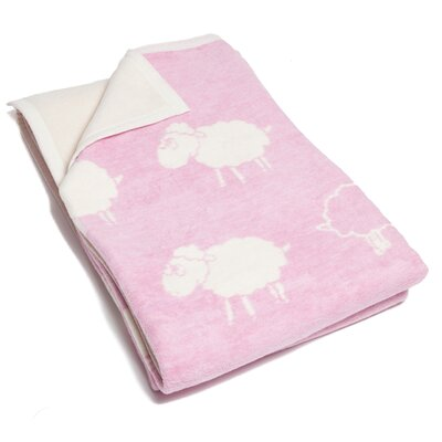 Boykins Counting Sheep Cotton Blend Blanket Color: Soft Pink