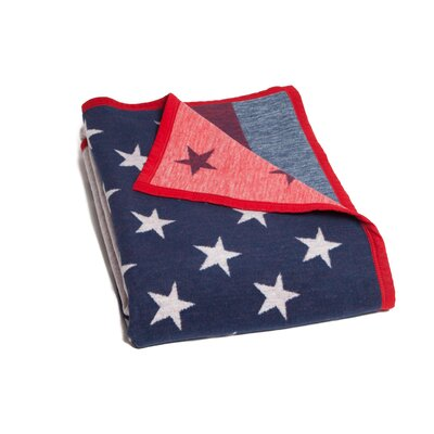 Delshire American Flag Cotton Blend Blanket