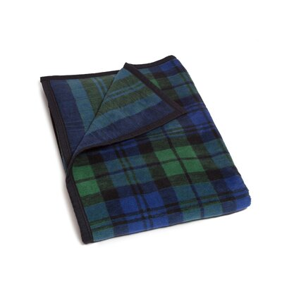 Merrill Black Watch Plaid Cotton Blend Blanket