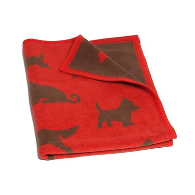 Devon Bow Wow Dogs Mini Reversible Cotton Throw Blanket