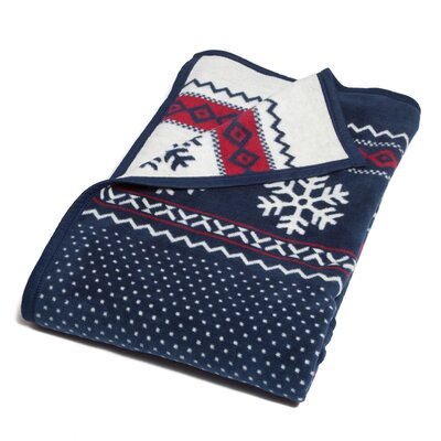 Barr Classic Fair Isle Cotton Blend Blanket