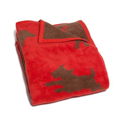 Devon Bow Wow Dogs Reversible Cotton Throw Blanket