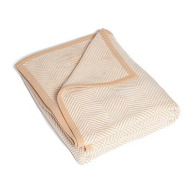 Miller Herringbone Blanket Color: Beige