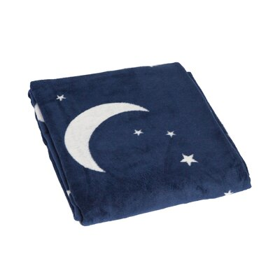 Poppy Starry Night Cotton Throw Blanket
