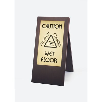 Wet Floor Sign Finish: Darkwood
