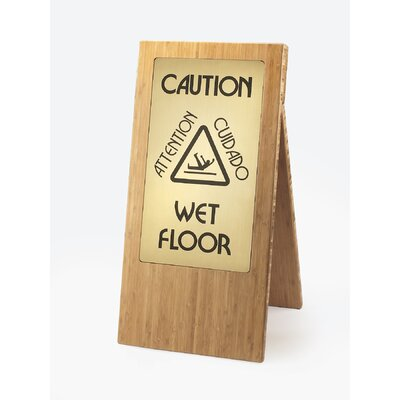 Wet Floor Sign Finish: Bamboo
