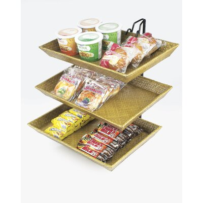Wire 2 Tier Bamboo Stand