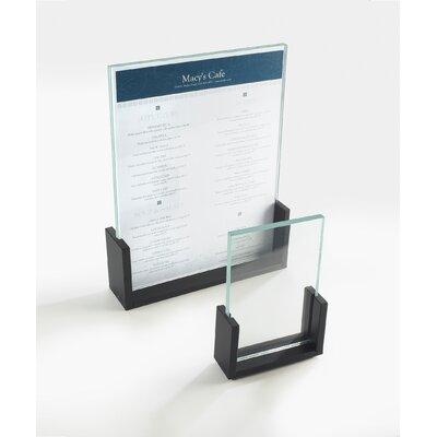 U-Frame Card Holder Color: Black, Size: 2 H�x�3.5 W�x�1 D