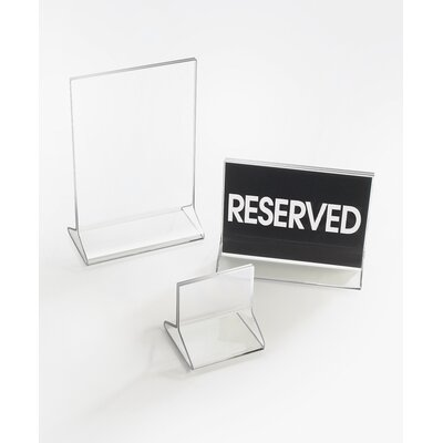 Classic Display Standard Card Holder (Set of 2) Size: 8 H x 4 W x 0.25 D