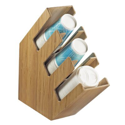 3 Section Wood Cup/Lid Holder 2048-3-60