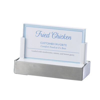 Classic Sign Holder Size: 11 H x 8 W x 2.63 D, Finish: Stainless Steel