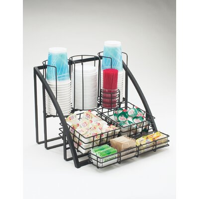 Condiment/Cup-Lid Wire Organizer Color: Black 1715-13