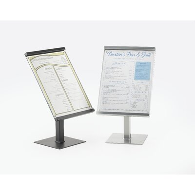 One by One 8 x 11 Sign Display Size: 15 H x 8.5 W x 7 D, Color: Silver