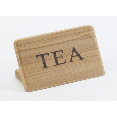 Bamboo Tea Sign
