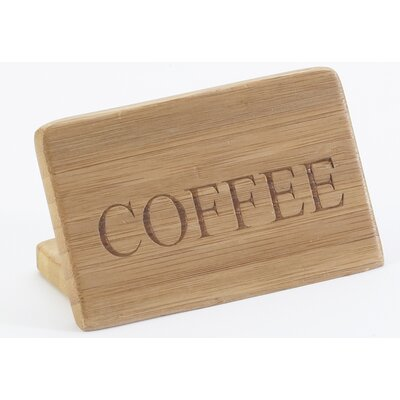 Bamboo Coffee Sign