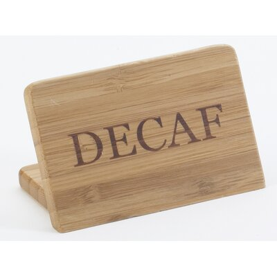 Bamboo Decaf Sign