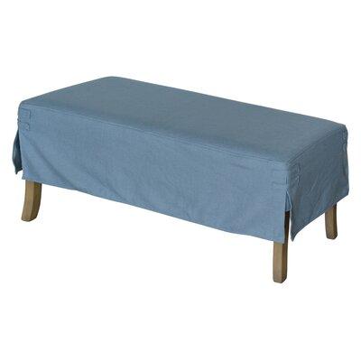 Classic Box Cushion Ottoman Slipcover Upholstery: Flagstone Blue