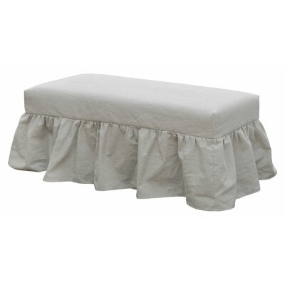 Classic Skirted Slipcover And Bench Upholstery: Oatmeal