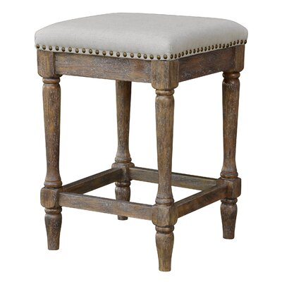 Walker 24 Bar Stool (Set of 2) Upholstery: Oatmeal