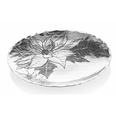 Wendell August Poinsettia Small Oval Serving Bowl
